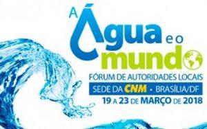 Fórum de Autoridades Locais: A Água e o Mundo
